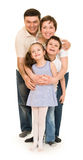 Happy family on white Stock Images