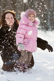 Happy family in winter Royalty Free Stock Images