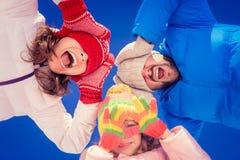 Happy family in winter Royalty Free Stock Photos