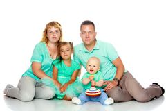 Happy family with young children Royalty Free Stock Photos