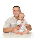 Happy family young father and child baby girl Royalty Free Stock Photo