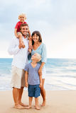 Happy Family with Young Kids Stock Images