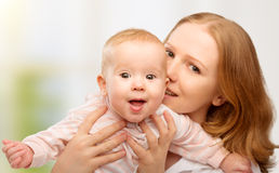 Happy family. young mother with baby Royalty Free Stock Images