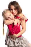 Happy family, young mother and little daughter Stock Image