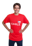 Happy fan from Chile Royalty Free Stock Photography