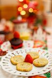 A happy fancy Christmas delicious party royalty free stock images