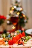 A happy fancy Christmas delicious party stock photos