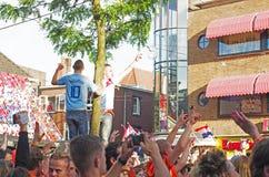 Happy fans in tree Stock Image