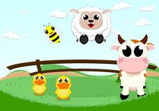 Happy farm animal Stock Images