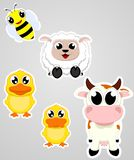 Happy farm animal cartoon Royalty Free Stock Photography