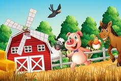 Happy Farm Animals Stock Images