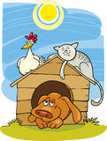 Happy farm animals Stock Photo