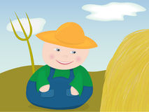 Happy farmer Stock Photography