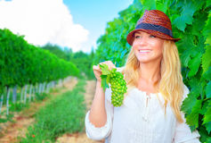 Happy farmer girl Stock Images