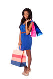 Happy fashion shopping bags Stock Photos