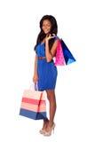 Happy fashion shopping bags stock photos