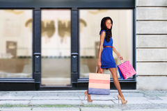 Happy fashion shopping consumer Royalty Free Stock Photos