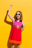 Happy fashionable girl Royalty Free Stock Image