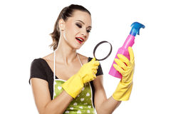 Happy fashionable housewife Royalty Free Stock Images
