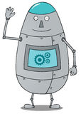 Happy fat robot Stock Photography