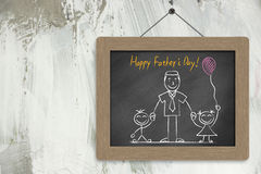 Happy Father�s Day Chalkboard Stock Image