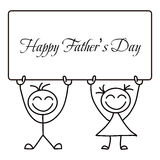 Happy Father�s Day Vector Cartoon Stock Photography
