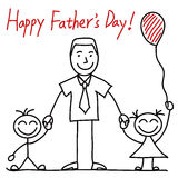 Happy Father�s Day Vector illustration Royalty Free Stock Image