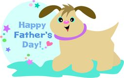 Happy Father's Day Dog Royalty Free Stock Images
