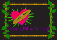 Happy Father�s Day Framed Greeting Royalty Free Stock Images