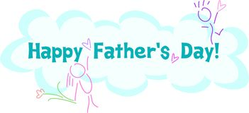 Happy Father's Day Greeting Stock Images