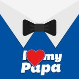 Happy Father's Day greeting card. Vector illustration. Royalty Free Stock Photos