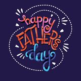Happy Father's Day, hand lettering typography modern poster design royalty free stock photography