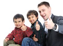 Happy father royalty free stock photo
