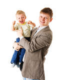 Happy father Stock Images