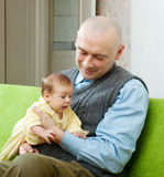 Happy father with  2 month baby Royalty Free Stock Photography