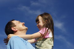 Happy with father Royalty Free Stock Photo