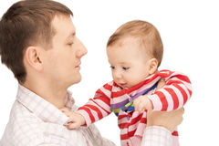 Happy father with adorable baby Royalty Free Stock Photography