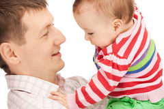 Happy father with adorable baby Royalty Free Stock Photos