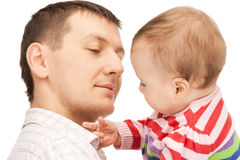 Happy father with adorable baby Stock Photos