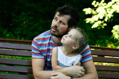 Happy father with adorable daughter Stock Photography