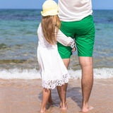 Happy father and adorable little daughter outdoors Royalty Free Stock Photo