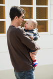 Happy Father And Baby Child Stock Photo