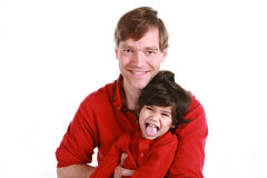 Happy Father And Son Stock Images