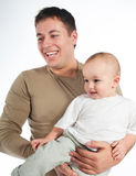 Happy father with a baby Royalty Free Stock Photo