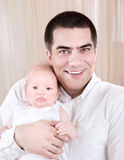 Happy father with baby Stock Images