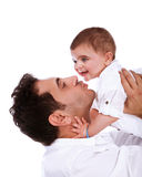 Happy father with baby daughter Stock Image