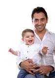 Happy father with baby Royalty Free Stock Photography