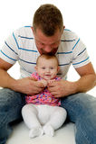 Happy father and baby Royalty Free Stock Images