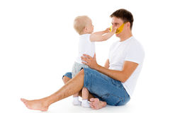 Happy father with baby son. Stock Photo