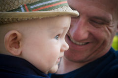 Happy Father and Baby Son Royalty Free Stock Photos